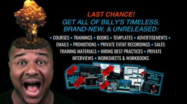 Last Chance To Get Everything Billy Has Ever Created! (link in bio)