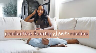 Our New Couch! & Sunday Cleaning Routine